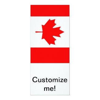 Canadian Maple 10 Cm X 24 Cm Invitation Card