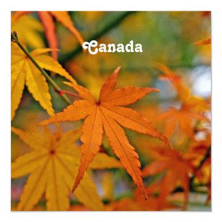 Canadian Maple Custom Invites