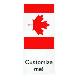 Canadian Maple 4x9.25 Paper Invitation Card