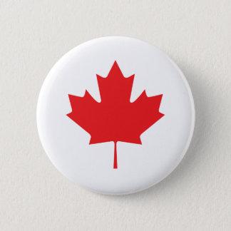 Canadian Maple Leaf 6 Cm Round Badge