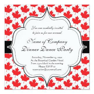 Canadian Maple Leaf Canada Day National Symbol 13 Cm X 13 Cm Square Invitation Card