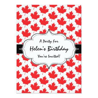 Canadian Maple Leaf Canada Day National Symbol 14 Cm X 19 Cm Invitation Card