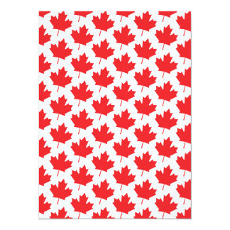 Canadian Maple Leaf Canada Day National Symbol 5.5x7.5 Paper Invitation Card