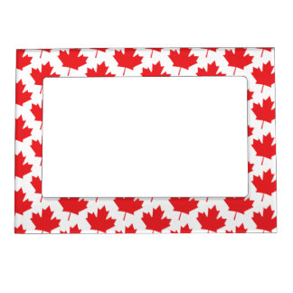 Canadian Maple Leaf Canada Day National Symbol Magnetic Photo Frame