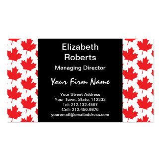 Canadian Maple Leaf Canada Day National Symbol Pack Of Standard Business Cards
