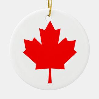 Canadian Maple Leaf Ceramic Ornament