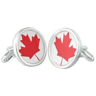 Canadian Maple Leaf Cufflinks