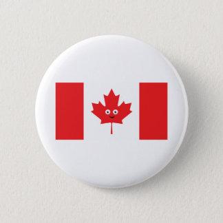 Canadian Maple Leaf Face 6 Cm Round Badge