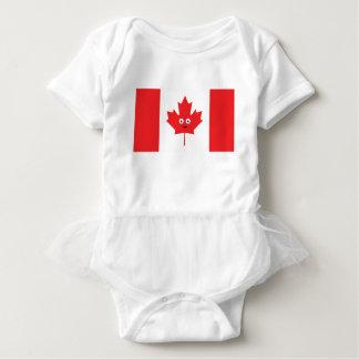 Canadian Maple Leaf Face Baby Bodysuit