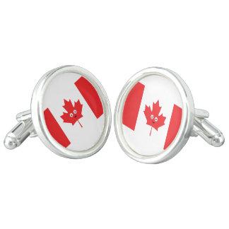 Canadian Maple Leaf Face Cufflinks