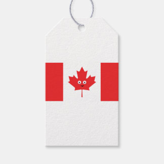 Canadian Maple Leaf Face Gift Tags