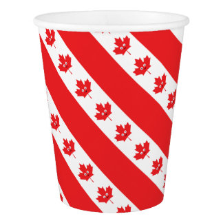 Canadian Maple Leaf Face Paper Cup