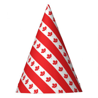 Canadian Maple Leaf Face Party Hat