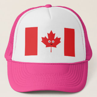 Canadian Maple Leaf Face Trucker Hat