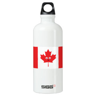 Canadian Maple Leaf Face Water Bottle