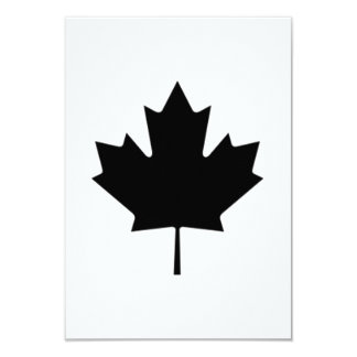 Canadian Maple Leaf Personalized Invites
