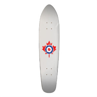 Canadian Maple Leaf Roundel Grunge Mod CANADA Custom Skateboard