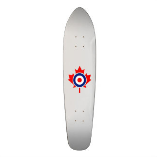 Canadian Maple Leaf Roundel Mod CANADA 21.6 Cm Old School Skateboard Deck