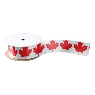 Canadian Maple Leaf Satin Ribbon