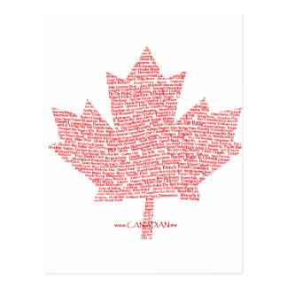 Canadian Maple Leaf Style Postcard
