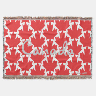 CANADIAN MAPLE LEAF THROW BLANKET HAVIC ACD