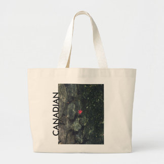 canadian maple leaf water large tote bag