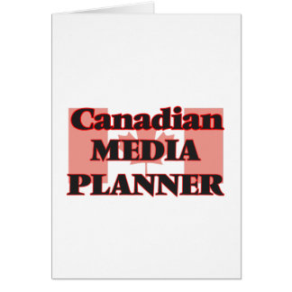 Canadian Media Planner Greeting Card