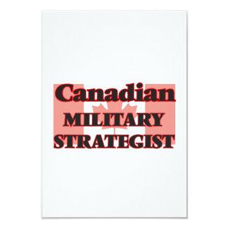 Canadian Military Strategist 9 Cm X 13 Cm Invitation Card