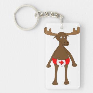 Canadian Moose Key Ring