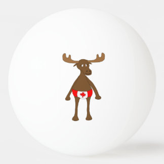 Canadian Moose Ping Pong Ball