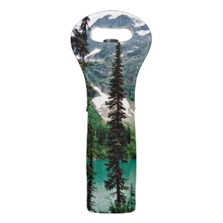 Canadian mountain lake wine bag