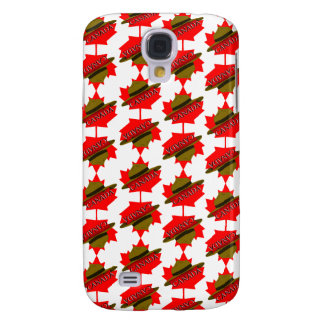 Canadian Mountie Hat on Red Maple Leaf Galaxy S4 Case