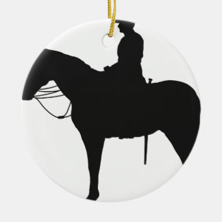 Canadian Mountie Silhouette Ceramic Ornament