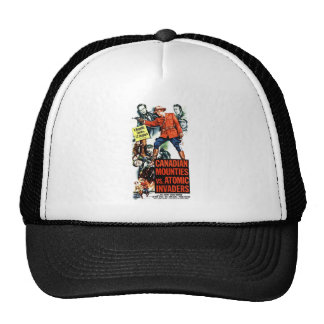 Canadian Mounties Vs Atomic Invaders Mesh Hats