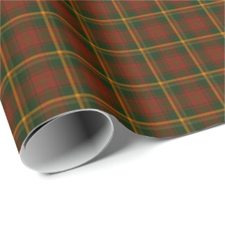 Canadian National Maple Leaf Tartan Wrapping Paper