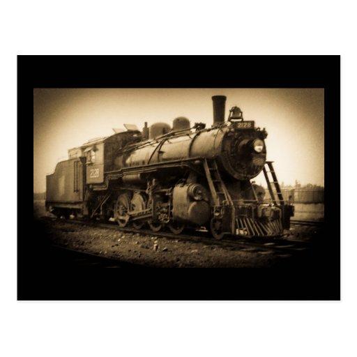 Canadian National Railroad Engine 2128 Postcard