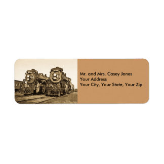 Canadian National Twin Locomotives - Vintage Return Address Label