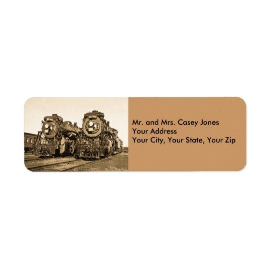 Canadian National Twin Locomotives - Vintage Return Address Label