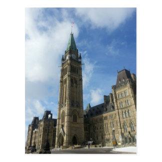Canadian Parliament in Ottawa Postcard