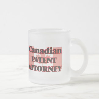 Canadian Patent Attorney Frosted Glass Mug
