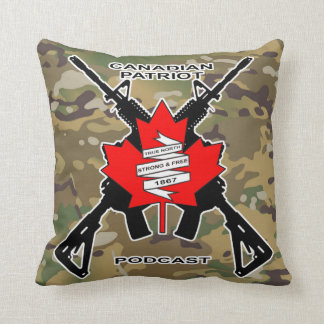 Canadian Patriot Podcast Throw Pillow