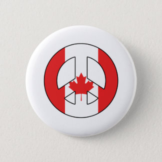 Canadian Peace Sign 6 Cm Round Badge