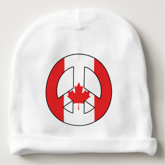 Canadian Peace Sign Baby Beanie