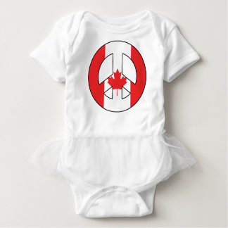 Canadian Peace Sign Baby Bodysuit