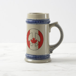 Canadian Peace Sign Beer Stein