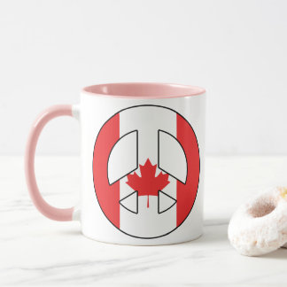 Canadian Peace Sign Mug
