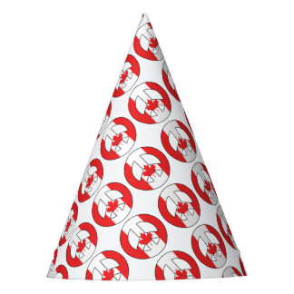 Canadian Peace Sign Party Hat