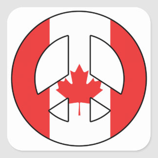 Canadian Peace Sign Square Sticker