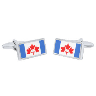 Canadian Pearson Pennant Cufflinks Silver Finish Cufflinks