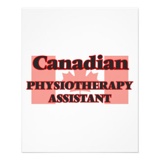 Canadian Physiotherapy Assistant 11.5 Cm X 14 Cm Flyer